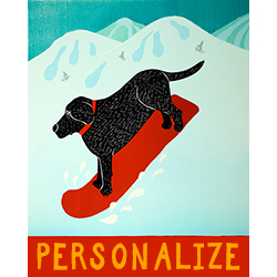 Snowboard - Customizable Giclee Print