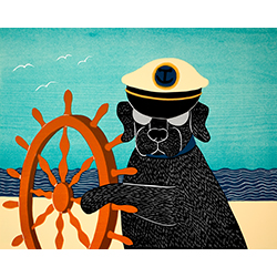 Captain - Original Woodcut