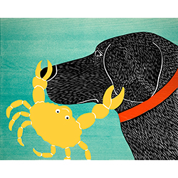 Crab-Yellow - Original Woodcut