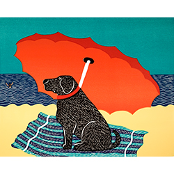 Lifeguard - Original Woodcut