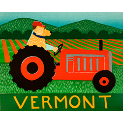Tractor-Vermont - Giclee Print
