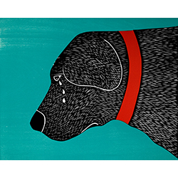 They Sense When You're Going Away - Original Woodcut