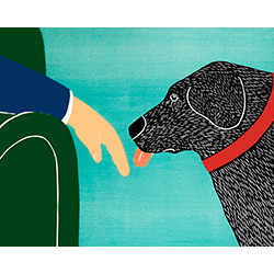 They Know When You Need Love - Original Woodcut