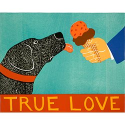 True Love - Original Woodcut