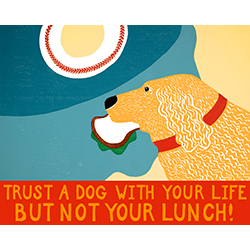 You Can Trust A Dog... - Giclee Print