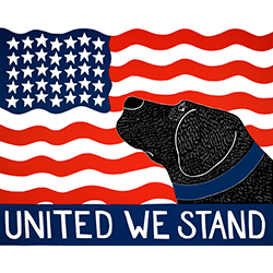 United We Stand - Original Woodcut