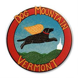 """Dog Mountain VT Logo - 2.25"""" Round"""