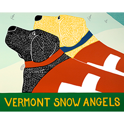 Snow Angels-Vermont - Original Woodcut