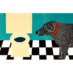 Water Bowl-Bad Dog - Giclee Print
