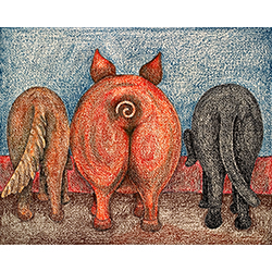 We Eat Like Pigs - Crayon Print