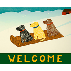 Sled Dogs-Welcome - Giclee Print