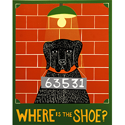 Where is the Shoe? - Original Woodcut