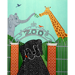 Zoo - Original Woodcut