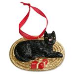 Black Cat - Hand-Painted Ornament