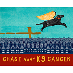 Chase Away K9 Cancer - Giclee Print