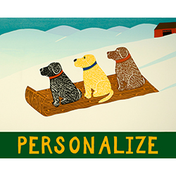 Sled Dogs - Customizable Giclee Print