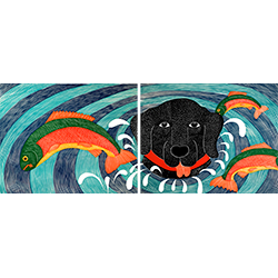 Fish Are Jumping - Diptych Print