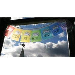 Transparent Laminated Prayer Flags
