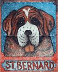 St. Bernard - Crayon Giclee
