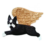 Boston Terrier - Angel Ornament