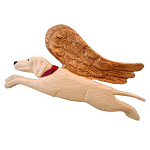 Yellow Lab - Angel Ornament